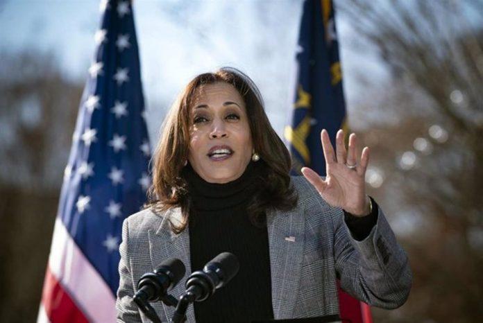 Kamala Harris dimitió como senadora.