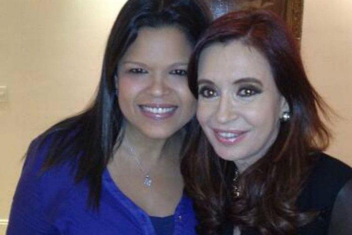 Maria Gabriela Chavez junto a Cristina Kirchner