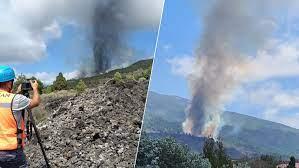Erupción volcán España 1